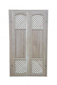 Двери с декоративной решеткой, ясень.
