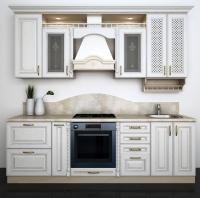 Кухня белый дуб патина