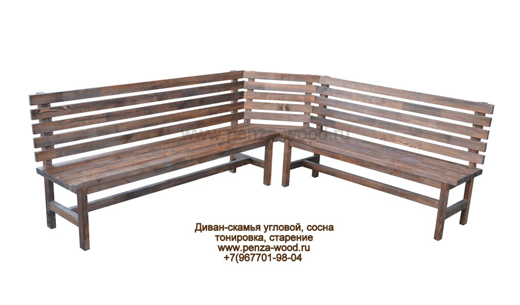 Пристенную скамейку своими руками