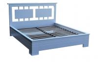 Кровать 180х200, дуб, белая эмаль